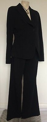 [188] Next Maternity Black Suit Jacket & Tailored Office Trousers Size 10
