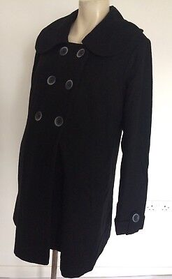 New Look Maternity Black Coat Jacket Size 10 [6]