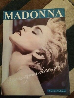 Madonna Open Your Heart UK Sheet Music