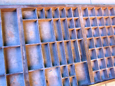 Letterpress Printing VERY OLD WOODEN TYPECASE Compositor's Case MILLER & RICHARD