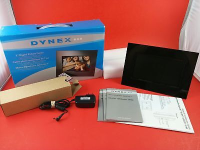 Dynex 7 Inches Digital Picture Frame [16:9 Format   480x239 Resolution] w/ Box