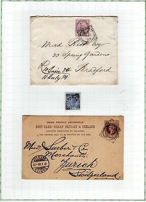 #278 GB QV 18.. Victoria LONDON CANCELS STUDY 13x leaves Postal History covers..