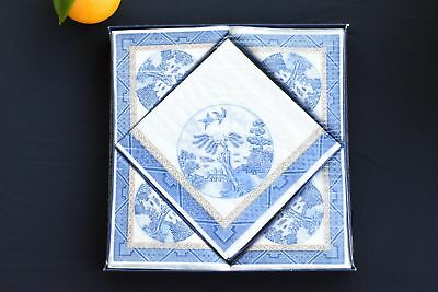 Antique Forty Eight Napkins Made in Denmark - Sealed by Freund Mayer