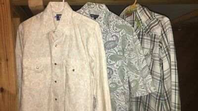 Men's Western Pearl Snap Long Sleeve Shirts ARIAT + More Paisley Print Plaid