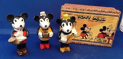 Mickey Mouse Musical Bisques circa 1930's  MIB