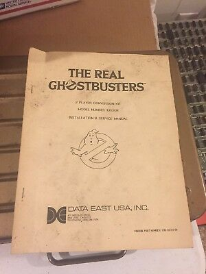 Data East The Real Ghostbusters arcade operations manual