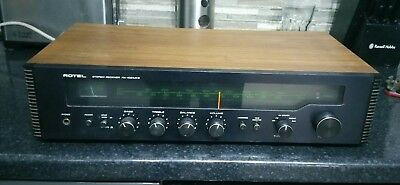 ROTEL RX-102 MkII RECEIVER AMPLIFIER 2 & 4 CHANNEL AM/FM MANUAL GWO VGC spares o