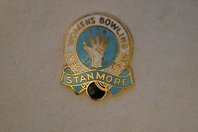 Collectable - Stanmore - Deaf Womens Bowling Club - Badge.