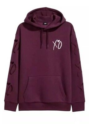 The Weekend X H&m Xo Hooded Sweatshirt Embroidered Fall 2017 Purple Size L-Xl