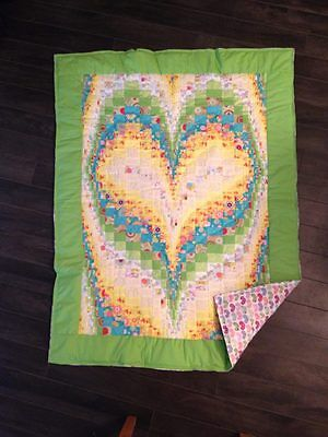 New Handmade Baby/ Toddler Quilt (Blanket)  - Patchwork Heart
