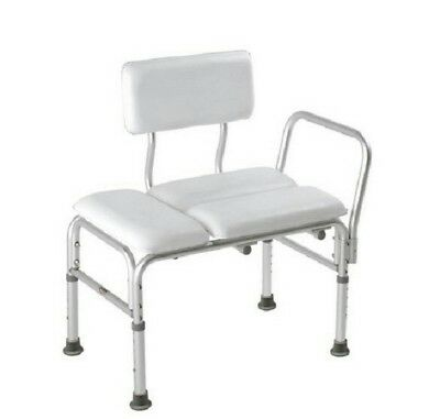 Rosco Padded Transfer Bench With Arms Bath Shower Gray 12005kd-1