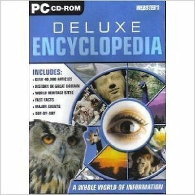 Websters Deluxe Encyclopedia, PC CD-Rom. Factory sealed.