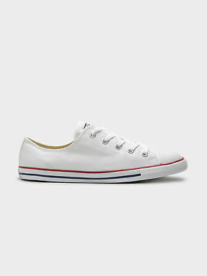 New Converse Chuck Taylor Dainty Canvas Low Top Sneakers In White Womens