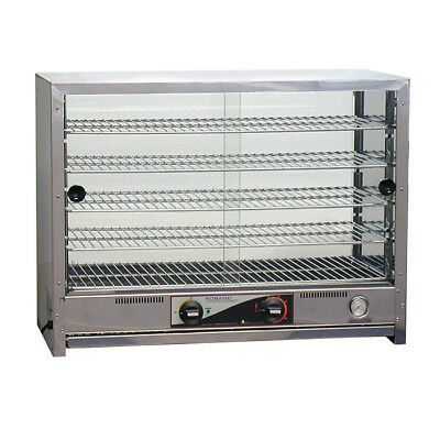 Hot Food Display Warmer 100 Pie Square Front Glass Roband PA100 Professional NEW