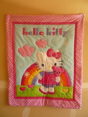 New Handmade Baby Quilt (Blanket)  - Hello Kitty