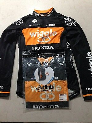 Wiggle Honda LS jersey with wind vest NEW