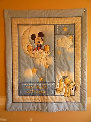 New Handmade Baby Quilt (Blanket)  - Mickey Mouse Goodnight