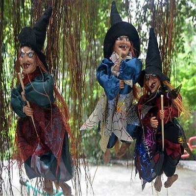 Halloween Hanging Witch Prop Talking Animated Scary Decoration Spooky Decor POP