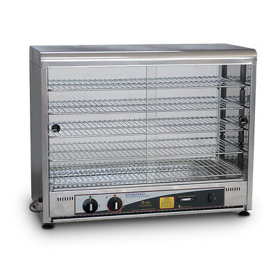 Hot Food Display Warmer 100 Pie, Curved Top Square Front Glass, Roband PW100 NEW