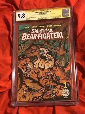 Cgc Ss 9.8~Shirtless Bear Fighter #1~Variant Con Ed~Signed~Greene+Leheup+Girner