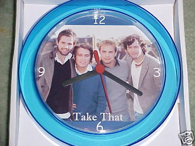 """TAKE THAT Novelty Wall Clock 7"""" Hot New Design Robbie Williams BRAND NEW"""