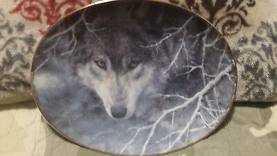 Soul of the Wilderness Wolf Collector plate by Bradley J. Parrish