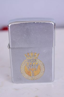 Vintage Royal Canadian Navy HMCS New Glasgow Zippo 1950 Cigarette Lighter