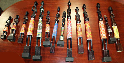 Lot of 14 African Statues