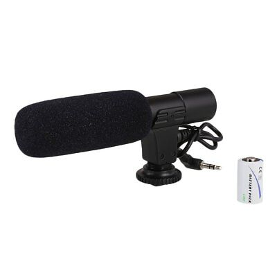On-Camera Shotgun Stereo Recording Microphone Mic For DSLR Camcorder Camera