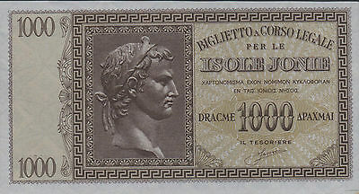 Greece , 1000 Drachmai , ND.1940's , M 17a , series 0001 , WWII issue