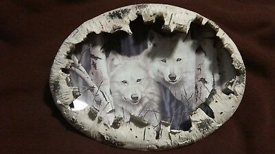 Spirits of the Forest Wolf Collector plate by Rusty Frentner - Bradford Exchange