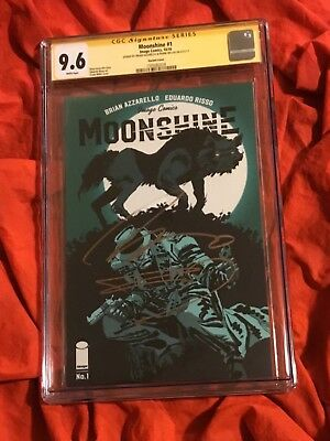 Cgc Ss 9.6~Moonshine #1~Variant~Signed By Frank Miller+Brian Azzarello~Batman~E