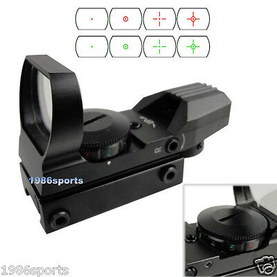 Hunting 4 Type Reticle Red Green Dot Sight for 20mm Picatinny Weaver Rail #d09