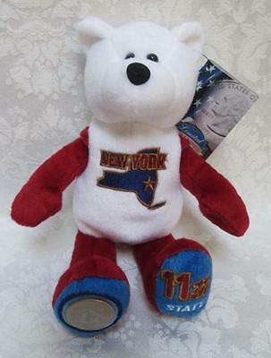 Limited Treasures State Quarters Coin Teddy Bear New York #11 Beanie