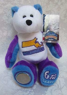 Limited Treasures State Quarters Coin Teddy Bear Massachusetts #6 Beanie