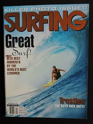 Surfing Magazine **uncirculated** New 1992 January Vol.28 #1 Hawaii Surfer