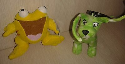 Neopets Plush Yellow Quiggle and Green Gelert