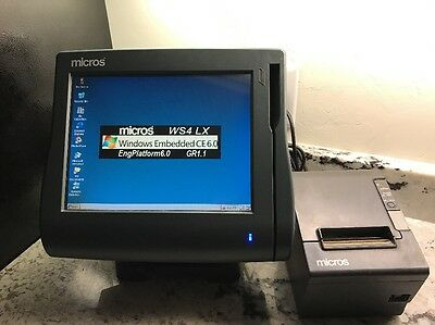 Micros Workstation 4 POS System & Epson Receipt Printer