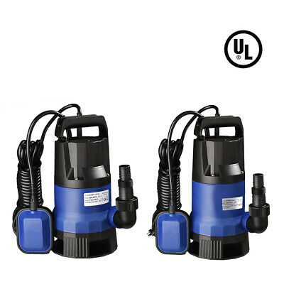 400/550/750W Submersible Dirty Water Pump Sump Flooding Pond Clean Swimming Pool