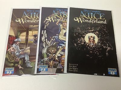 The Complete Alice In Wonderland #1-3 (Dynamite/carroll/0217194) Full Set Of 3