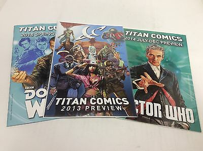 Titan Comics Preview 2013,2014,2015 (Titan/061531) Comic Book Set Lot Of 3