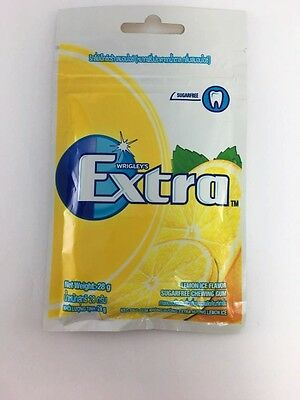 Wrigley's Extra gum flavor lemon ice  sugarfree Refreshing mouth Clean teeth