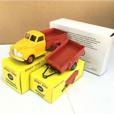 1/43 Suit 2Pcs Atlas Car Model Trailer Dinky Toys 25S & 25P Die-Cast Collection