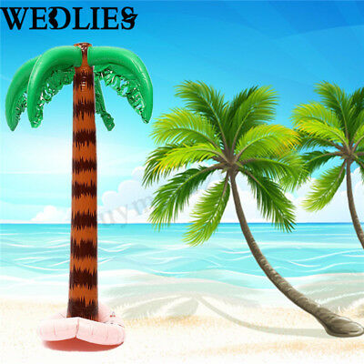 2Pcs 90cm Inflatable Blow Up Palm Tree Hawaiian Tropical Summer Beach Party Toy