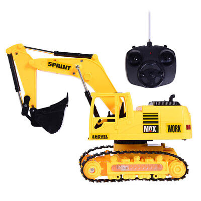 Durable Childrens Excavator Electric Remote Control Construction Tractor Toys