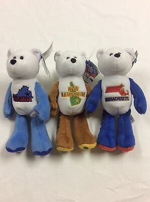 50 States of America Set of Three Coin Bears Limited Treasures NEW With Tags