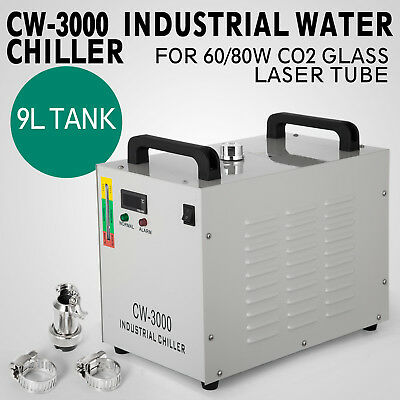 USA STOCK! 220V CW-3000DG Water Chiller for 60/80W Laser Engraving Machine