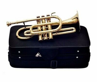Offer Cornet Shinning Brass Professional 3V with Hard Case +Mouth Piece Free