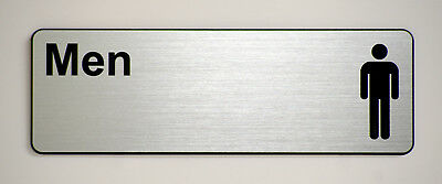 'Men' Engraved label for offices and businesses.