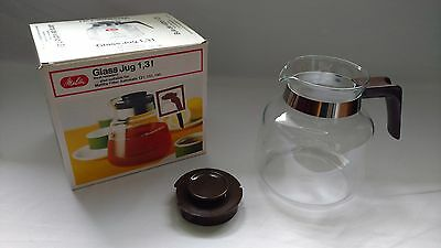 Vintage NEW Melitta Glass Jug 1.3L Carafe Pot replacement in box made Germany